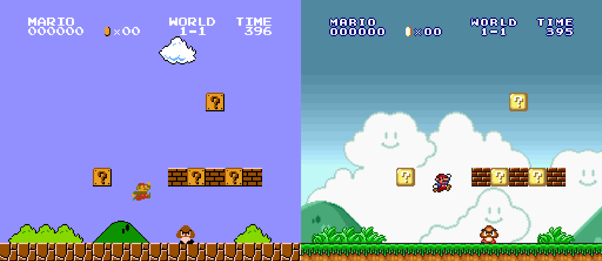 Super-Mario-All-Stars-Spot-the-difference-between-the-upgrades
